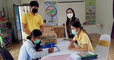 โรงเรียนวัดหัวเมืองมอบนมกล่องให้นักเรียนช่วง On-Hand